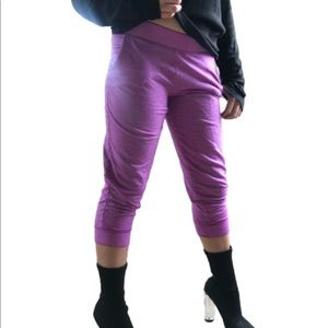 Purple lavender Cuffed Ankle athletic Sweat Pants.